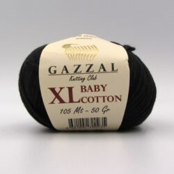 Пряжа Gazzal Baby Cotton XL черный 3433XL