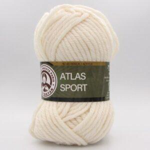 Пряжа Madame Tricote Atlas Sport молочный 004