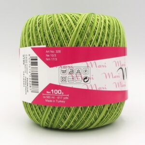 Пряжа Madame Tricote Maxi 0188 зеленый меланж