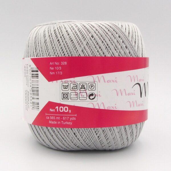 Пряжа Madame Tricote Maxi 4920 светло-серый