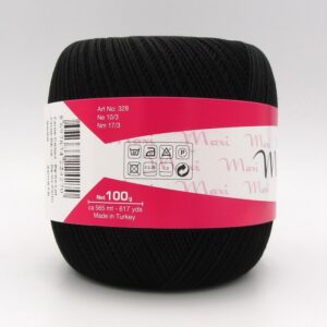 Пряжа Madame Tricote Maxi 9999 черный