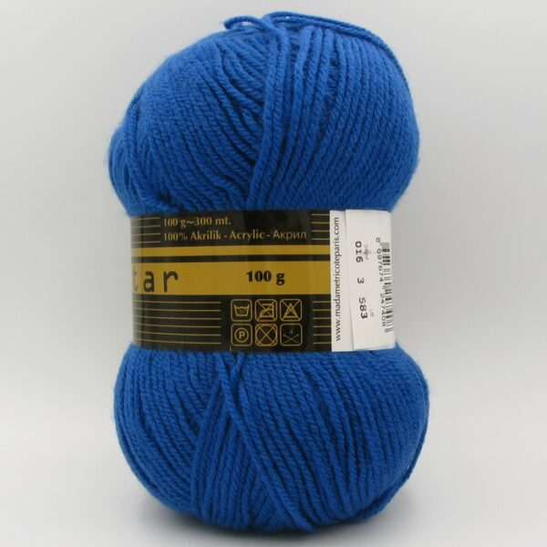 Пряжа Madame Tricote Star 016 синий