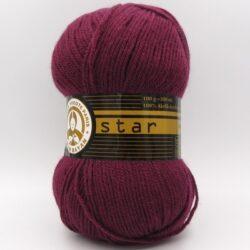 Пряжа Madame Tricote Star 052 вишневый