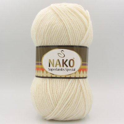 Пряжа Nako Superlambs Special 300 молочный