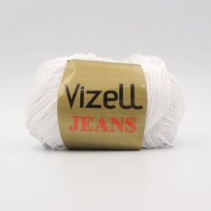 Пряжа Vizell Jeans 010 белый