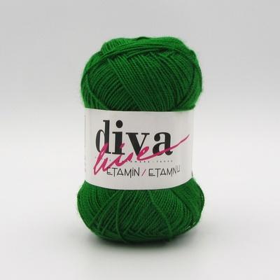 Пряжа Etamin Diva зеленый 034