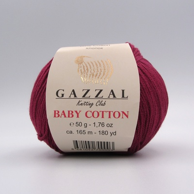 Пряжа Gazzal Baby Cotton бордо 3442