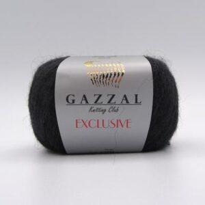 Пряжа Gazzal Exclusive 9906 угольно-серый