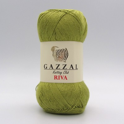 Пряжа Gazzal Riva 168 оливковый
