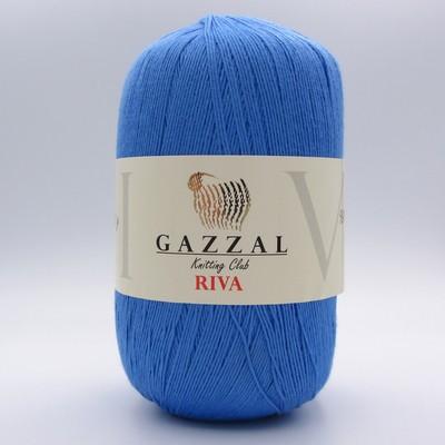 Пряжа Gazzal Riva 169 голубой