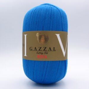 Пряжа Gazzal Riva 176 голубая бирюза