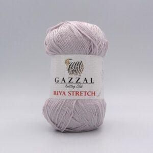 Пряжа Gazzal Riva Stretch 2112 розово-серый