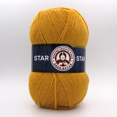 Пряжа Madame Tricote Star 115 горчица