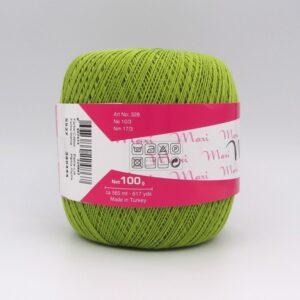 Пряжа Madame Tricote Maxi 5527 зеленый