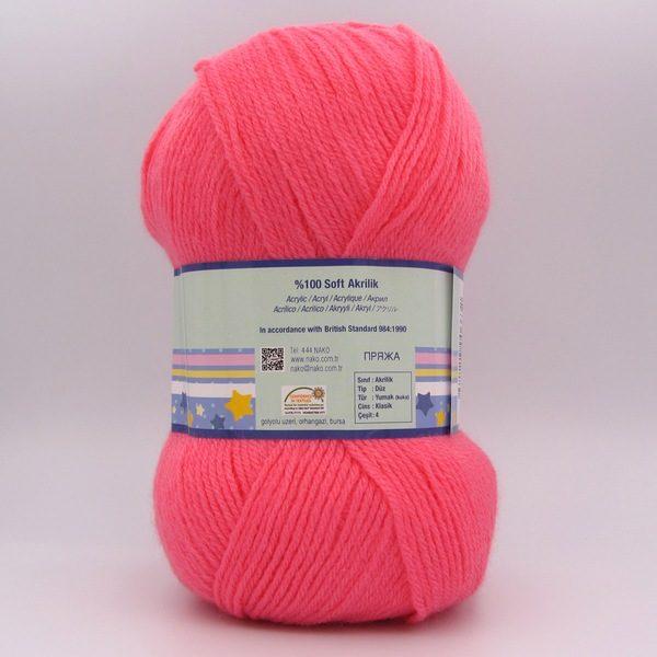 Пряжа Nako Ninni Bebe 236 кораллово-розовый
