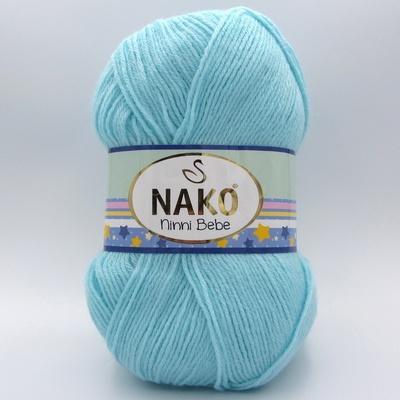 Пряжа Nako Ninni Bebe 280 голубая бирюза