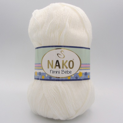 Пряжа Nako Ninni Bebe 300 молочный