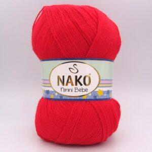 Пряжа Nako Ninni Bebe 6555 красный