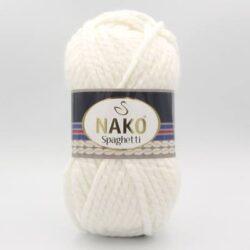Пряжа Nako Spaghetti 208 белый