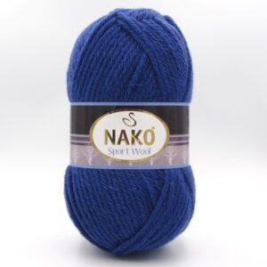 Пряжа Nako Sport Wool 10472 синий