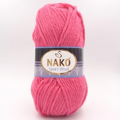 Пряжа Nako Sport Wool 1174 яркий розовый