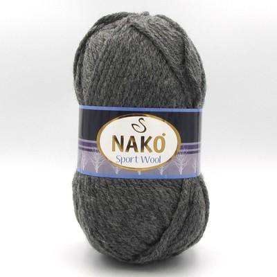 Пряжа Nako Sport Wool 193 темно-серый