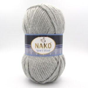 Пряжа Nako Sport Wool 195 светло-серый