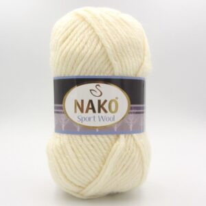 Пряжа Nako Sport Wool 4109 молочный