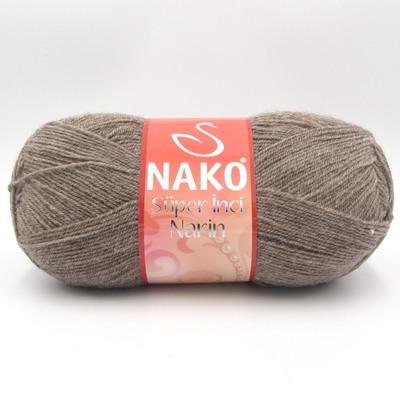 Пряжа Nako Super inci Narin 1367 мокко