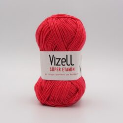 Пряжа Vizell Super Etamin красный