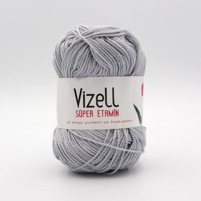 Пряжа Vizell Super Etamin серый