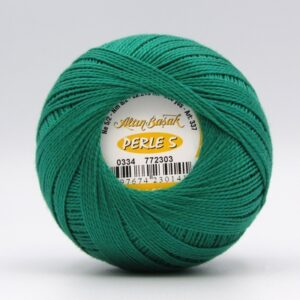 Пряжа Altin Basak Perle 5 0334 темно-зеленый
