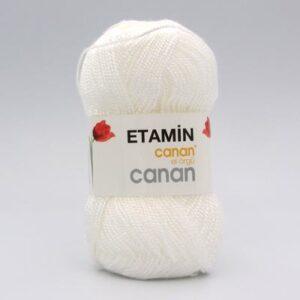 Пряжа Etamin Canan белый E-101
