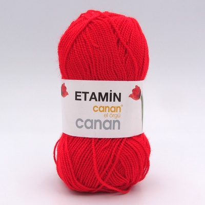 Пряжа Etamin Canan красный Е-122