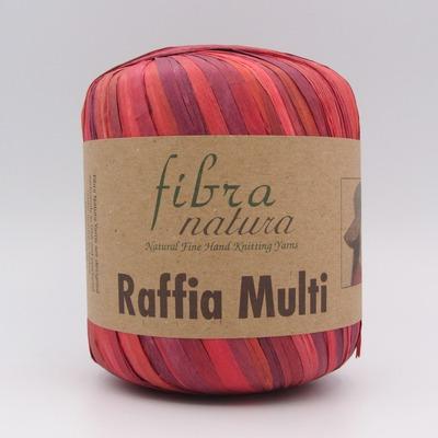 Пряжа Fibranatura Raffia Multi красно-бордовый 117-02