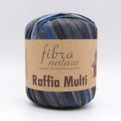 Пряжа Fibranatura Raffia Multi 117-07 темно-синий