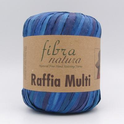 Пряжа Fibranatura Raffia Multi 117-08 синий
