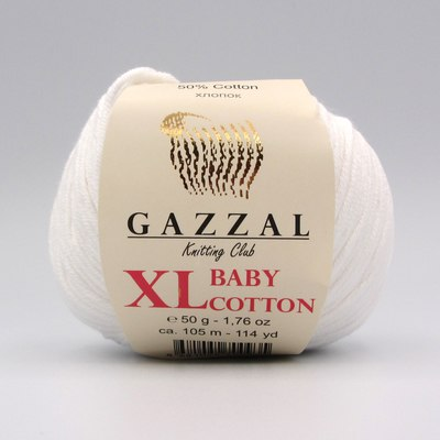Пряжа Gazzal Baby Cotton XL 3432XL белый