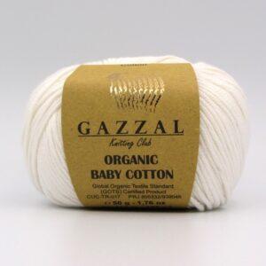 Пряжа Gazzal Organic Baby Cotton белый 415