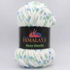Пряжа Himalaya Bursa Chenille белый-мята-голубой