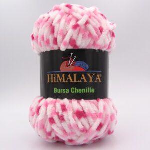 Пряжа Himalaya Bursa Chenille белый-розовый-малиновый