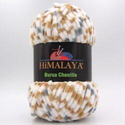 Пряжа плюшевая Himalaya Bursa Chenille белый-серый-беж