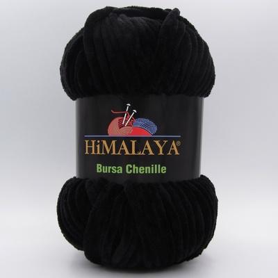 Пряжа плюшевая Himalaya Bursa Chenille черный