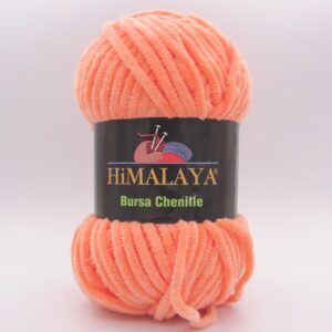Пряжа плюшевая Himalaya Bursa Chenille яркий персик