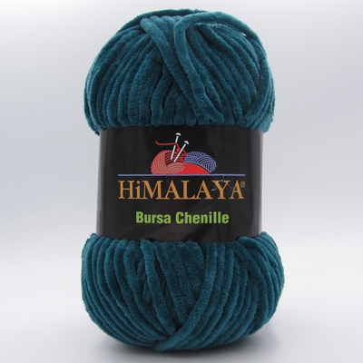 Пряжа плюшевая Himalaya Bursa Chenille темно-зеленый