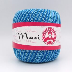 Пряжа Madame Tricote Maxi 0199 голубая бирюза меланж