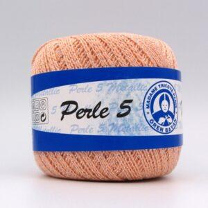 Пряжа Madame Tricote Perle 5 0122 персик металлик
