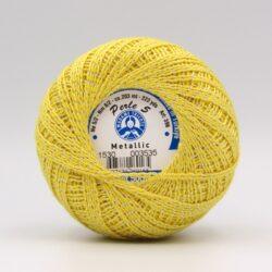 Пряжа Madame Tricote Perle 5 1530 желтый металлик