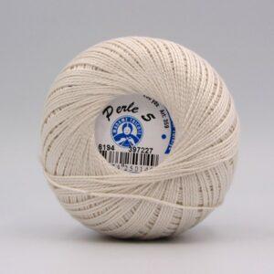 Пряжа Madame Tricote Perle 5 6194 светлый беж
