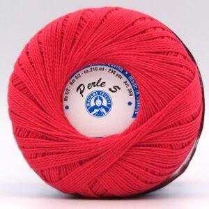 Пряжа Madame Tricote Perle 5 6328 красный